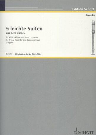 5 baroksuiter for altblokfløjte og basso continuo