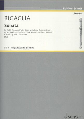 Bigaglia sonate for altblokfløjte og basso continuo