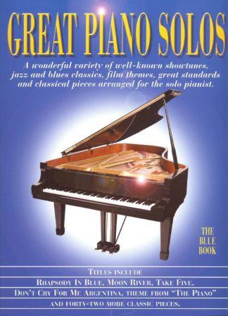 den blå nodebog med klassiske mesterværker til klaver