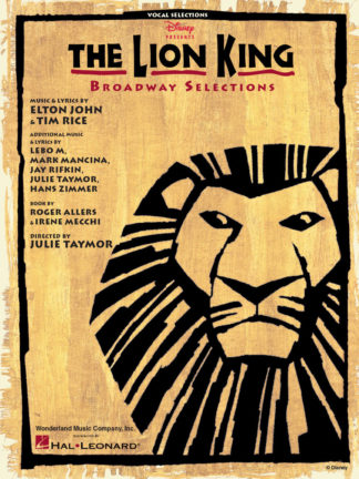 lion king broadway selections