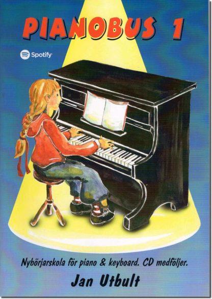Klaverlærebogen Pianobus 1 med noder og download fra Spotify