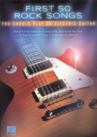 First 50 Rocks Songs for elektrisk guitar