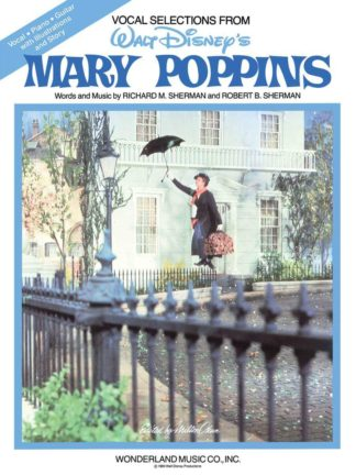 Songs from Walt Disney's classic film, Mary Poppins , arranged for easy piano with chord symbols. Includes Chim Chim Cher-ee and Supercalifragilisticexpialidocious . Words and Music by Richard M. Sherman and Robert B. Sherman.