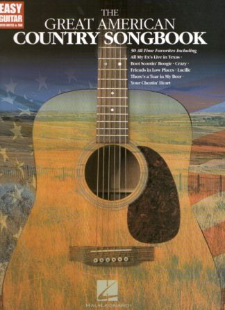 50 legendariske countrysange for easy guitar med TAB