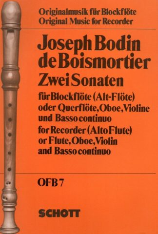 For treble recorder (oboe, violin, flute) and basso continuo