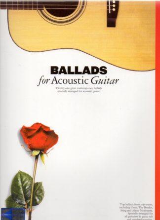Sangbog med balader til akustisk guitar