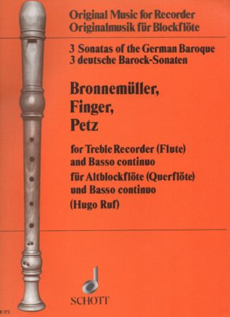 For treble recorder (flute) and basso continuo
