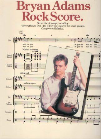 Partitur med Bryan Adams sange