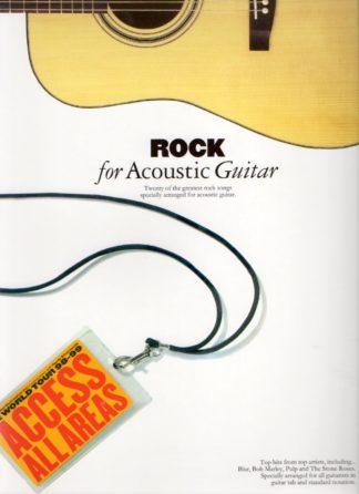 Rocksange udvalgt til akustisk guitar