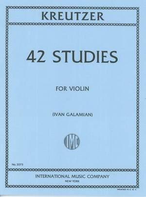 Kreutzer: 42 Studies for violin