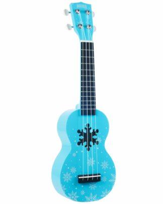 sne og frostblå ukulele